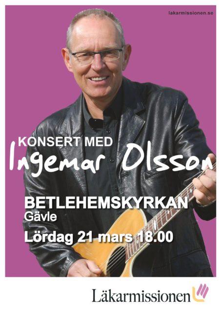 Inställd konsert med Ingemar Olsson